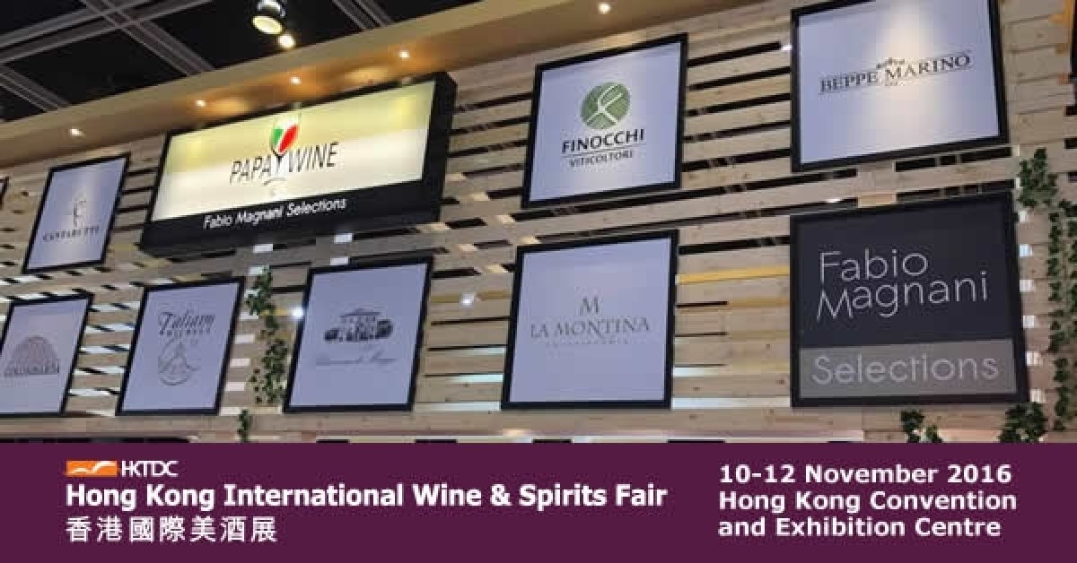 Finocchi Viticoltori all'Hong Kong International Wine & Spirits Fair