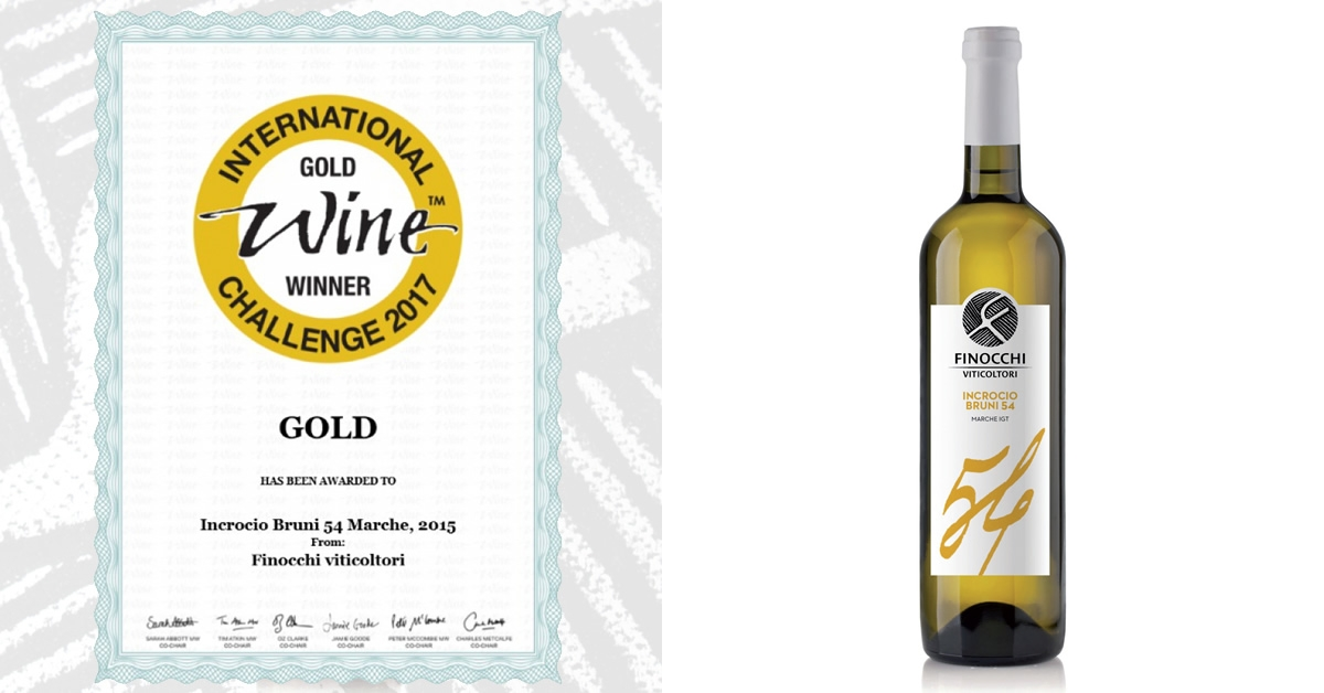 Medaglia d'Oro International Wine Challenge 2017 - Incrocio Bruni 54