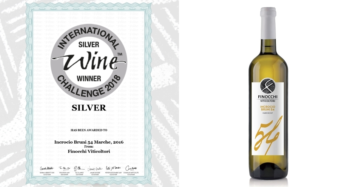 Incrocio Bruni 54 Medaglia d'Argento all'International Wine Challenge 2018